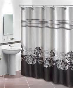 home collections black gray iris shower curtain hook set