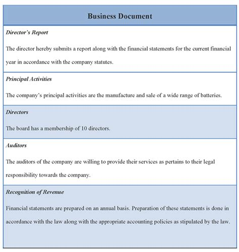 business document templates document template for business template of business