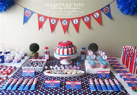 festa tema capitao america lete