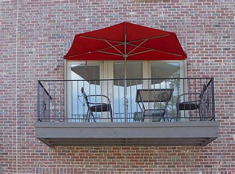 the most of small spaces half canopy umbrella makes the most of small spaces outdoor patio ideas
