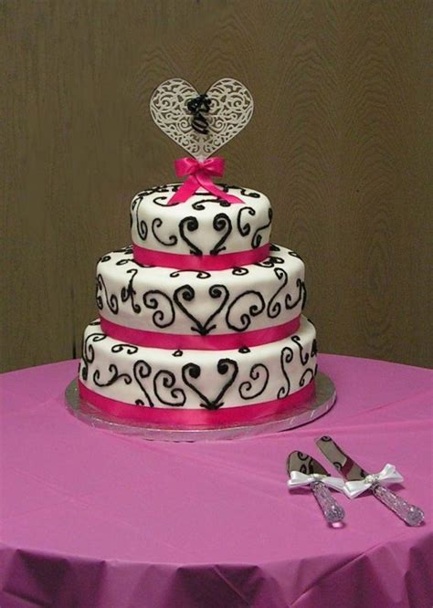Pink And Black Wedding Ideas by Pink Black And White Wedding Cakes Search