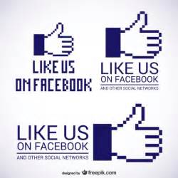 like us on facebook logos vector free download