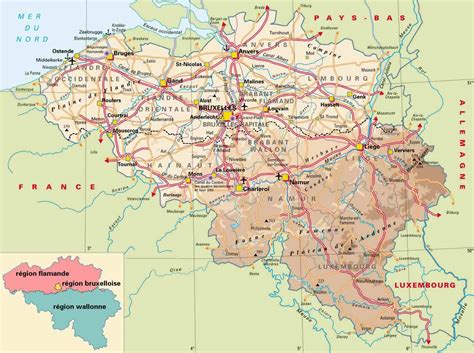 belgium map road and physical map of belgium belgium road and