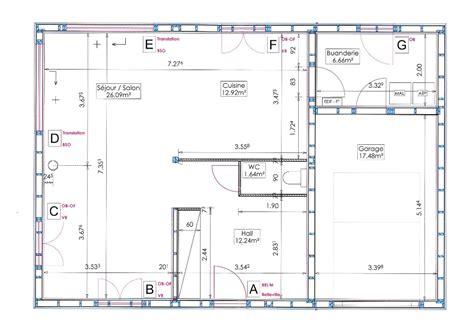 plans de cuisine ouverte plans notre maison ossature bois