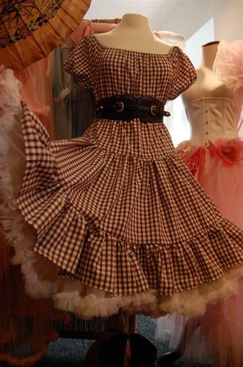 hoedown attire vv belle starr gingham boho prairie cowgirl dress western
