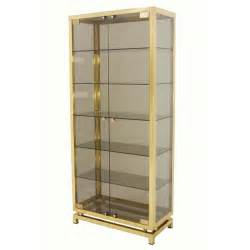 Glass Curio Cabinets Modern Solid Brass Glass Curio Cabinet Display