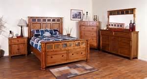rustic bedroom suite sd 2322ro sedona rustic storage footboard panel bedroom