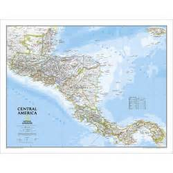 central america classic wall map national geographic store