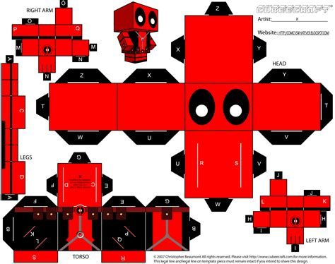 Www Paper Craft - cubecraft deadpool papercraft deadpool papercraft toys