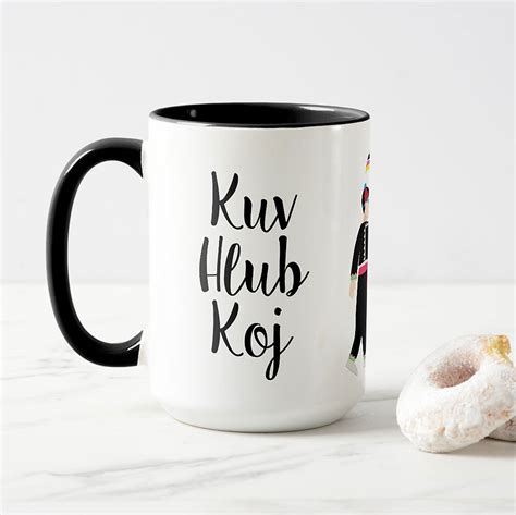 personalized hmong couple mug  kue shop