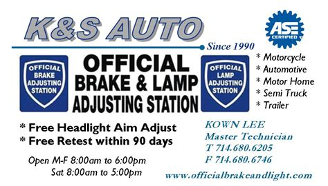 brake and light inspection san brake and light inspection san fernando valley amazing