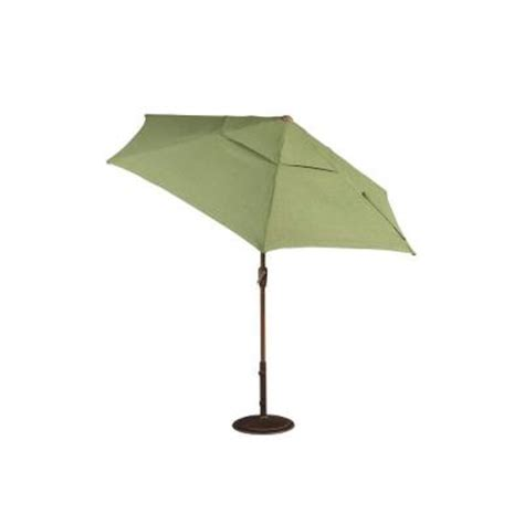 Home Depot Patio Umbrella Hton Bay Clairborne 9 Ft Patio Umbrella In Moss Dy11079 U The Home Depot