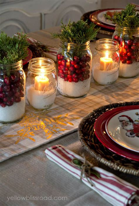 christmas center table decorations decorating with jars celebration