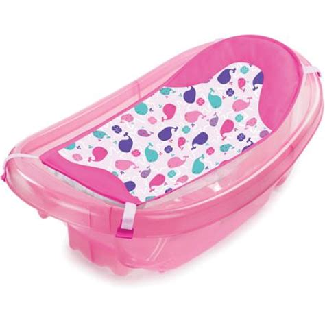 pink baby bathtub summer infant sparkle n splash newborn to toddler baby