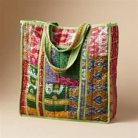 Sari Patchwork - sari patchwork tote totes carryalls bags