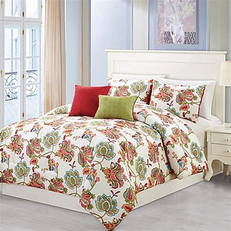 sage bedding wissler 5 piece comforter set in red sage bed bath beyond