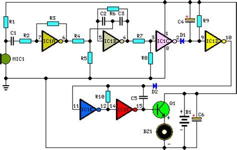 ceramic capacitor whistle simple whistle responder schematic circuit diagram electronic circuits diagram