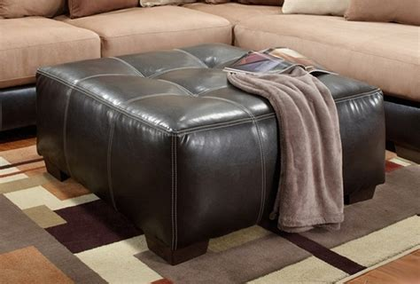 large square tufted ottoman large square tufted brown bonded leather ottoman