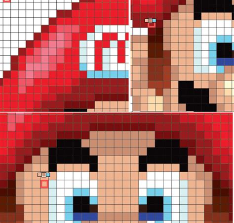 mario pixel template how to create a mario pixeled ornament in adobe