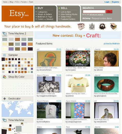 Handmade Items Website - etsy 7 websites to sell handmade goods on diy