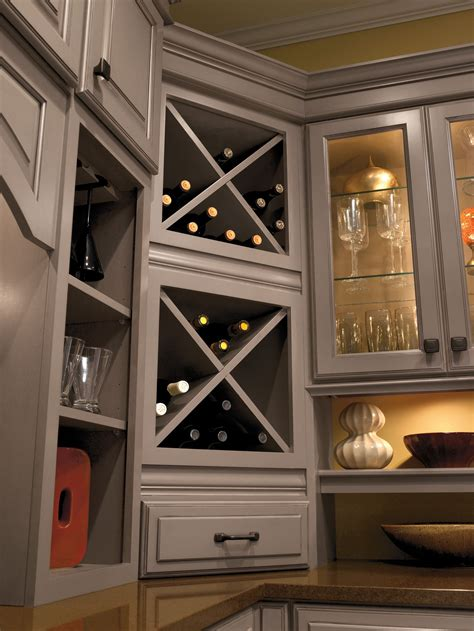 Wine Storage Kitchen Cabinet Built In Wine Rack Cabinet Storage Schrock Masterbrand Csikitchenandbath Home Storage