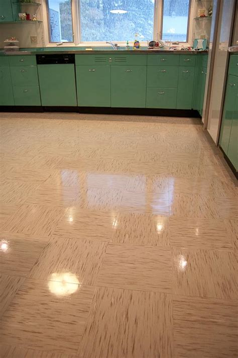 Retro Flooring by Azrock Cortina Autumn Flooring In Four Kitchens Any
