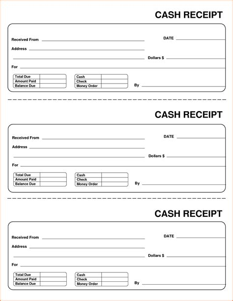 template for receipt when a customer wins money 6 sle receipt budget template letter