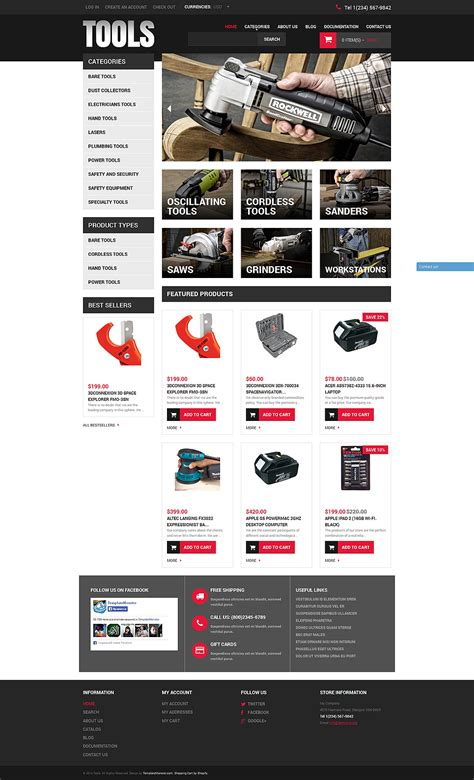 shopify themes bootstrap tools equipment responsive shopify theme 49594
