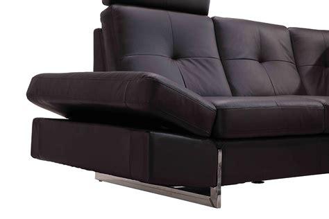 full leather sectional sofa 973 modern brown full leather sectional sofa