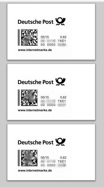 Versandetikett Drucken Dhl by Internetmarke Deutsche Post Versandetikett