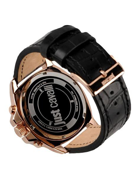 just cavalli wrist in black for lyst