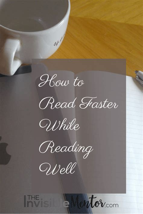how to read comfortably how to read faster while reading well speed reading