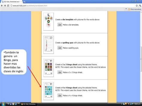 tutorial web page tutorial de esl kids web page