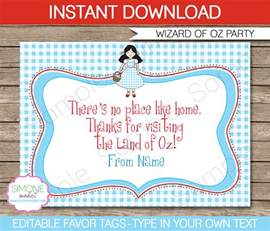 Wizard Of Oz Invitations Template by Wizard Of Oz Printables Invitations Decorations