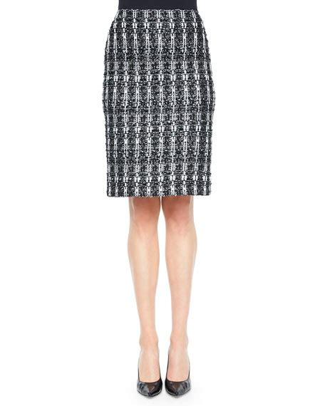 st collection textured sparkle tweed pencil skirt