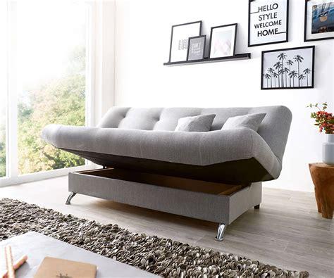 schlafsofa viol  cm grau couch mit bettkasten moebel