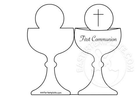 first communion banner printable templates card first communion chalice template easter template