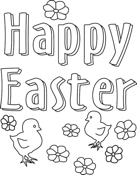 Free Printable Easter Coloring Pages For Free