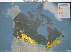 map of canada population population density of canada geopolitical futures