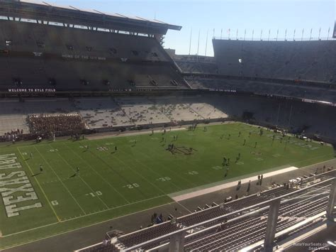 kyle field visitor section kyle field section 311 rateyourseats com