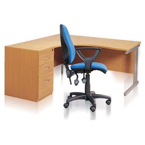 chair desk combo uk radial desk pedestal chair combo b s office equipment