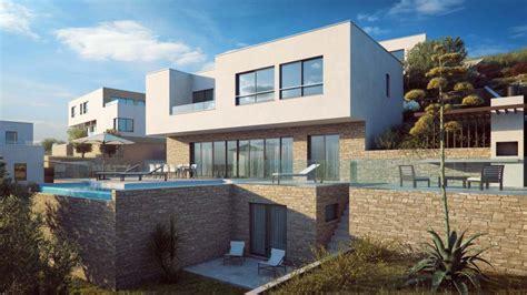 neues haus mit grundstück kaufen insel ciovo luxusvilla mit pool neubau im villenresort