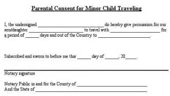 Permission To Take Child Out Of Country by Notarized Letter Template For Child Travel Best Business Template