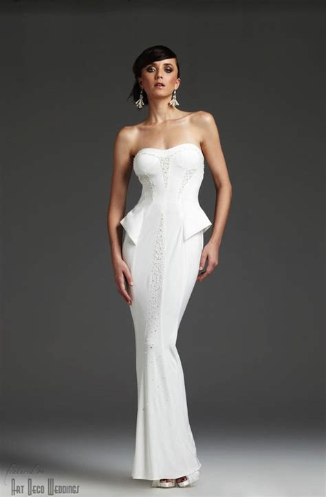 deco wedding gowns deco peplum wedding dress vm970 deco weddings