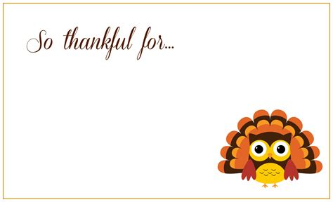 Thanksgiving Card Template For 8 best images of free thanksgiving printable card