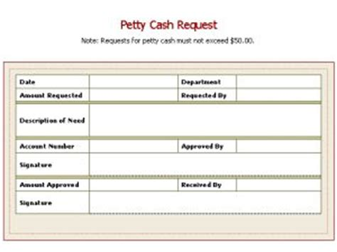 petty cash request slip template certificate templates