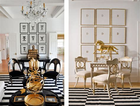 black white and gold home decor the together project living dining area