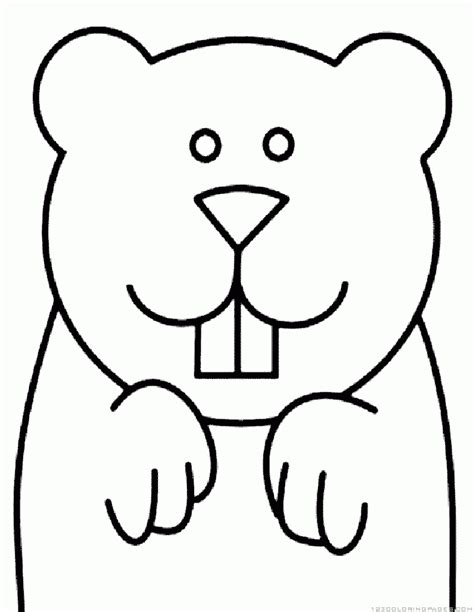 groundhog coloring page printable groundhog woodchuck coloring pages coloring home