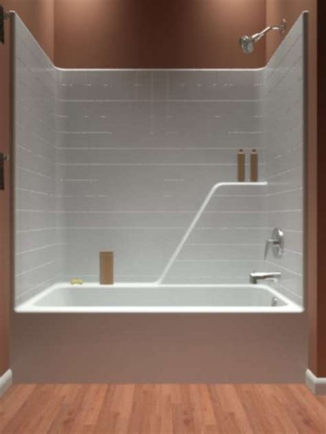 acrylic bathtub shower combo ttb 603375 r diamond tub showers