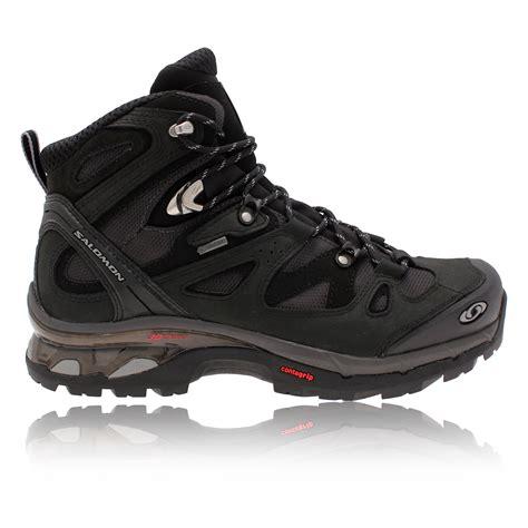 mens salomon walking boots salomon mens comet 3d black tex waterproof trail